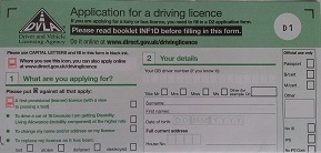 Licence application form